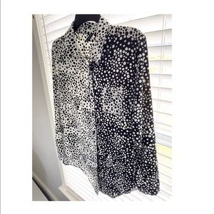 New Directions black & white blouse
